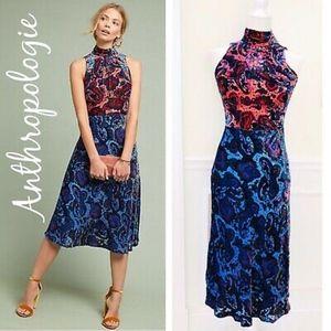 Anthropologie Rumie Two-Tone Velvet Dress